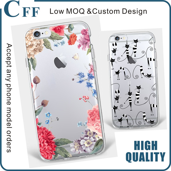 New Arrival for iphone case clear for samsung s7 edge case Color Drawing Soft TPU Silicon Phone For galaxy s7 case cheap