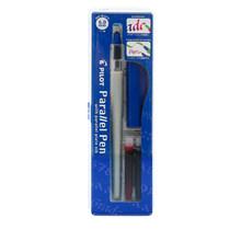 Набор ручек для каллиграфии на английском языке с градиентной щеткой, набор ручек параллельного дизайна 1,5 мм 2,4 мм 3,8 мм 6 мм с бонусными черн...(Китай)