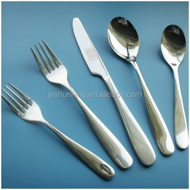clear mirror polish high quality 5pcs thailand stainless steel flatware