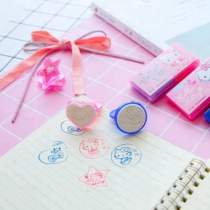 Heart Shape Star Shape Kids Rubber Stamp/Five stars stamper