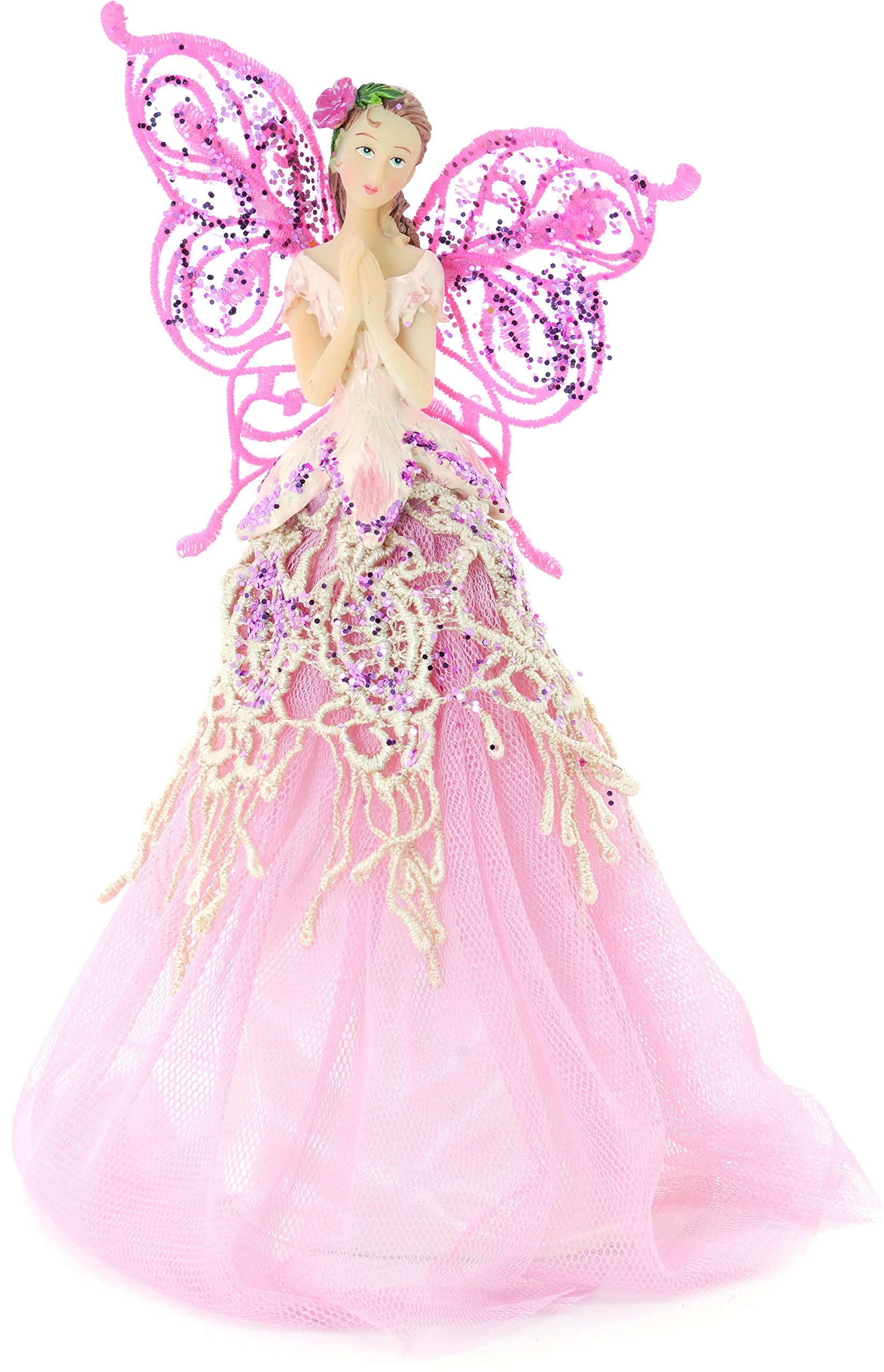 get quotations festive productions fabric angel christmas tree topper 23 cm pink by festive productions