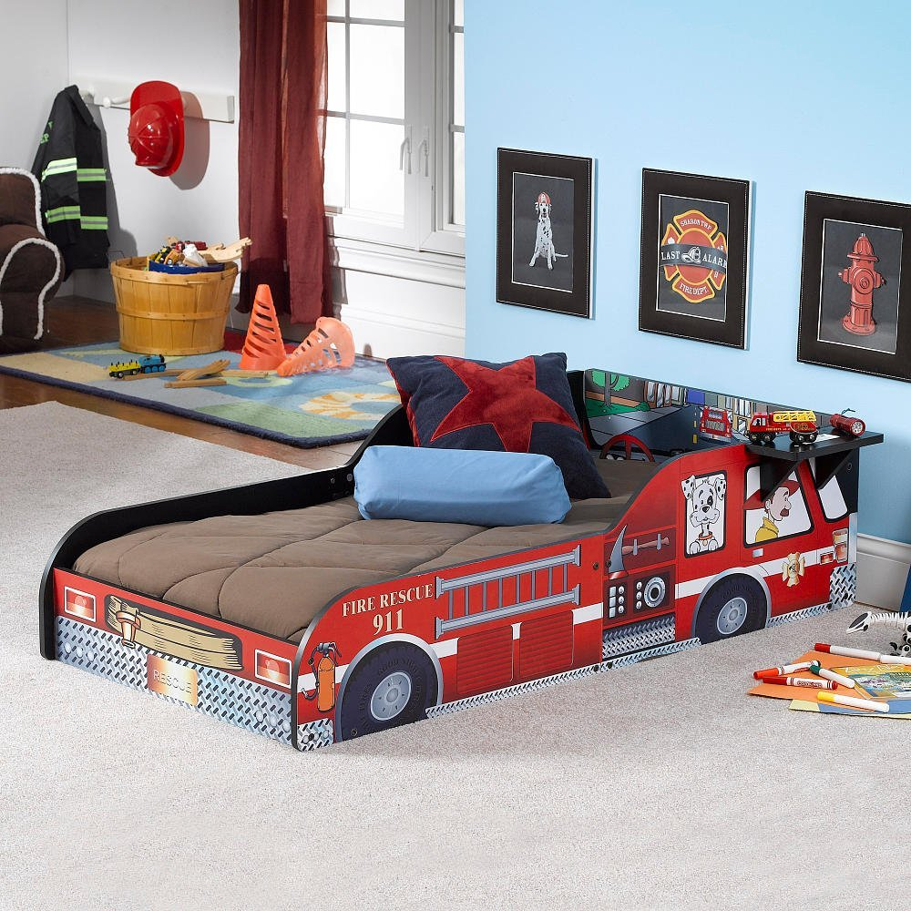 Get Quotations Russell Children Products Fire Truck Toddler Bed