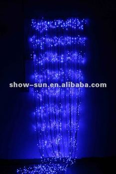 720 led multi action curtain lights christmas lights blue with clear cable