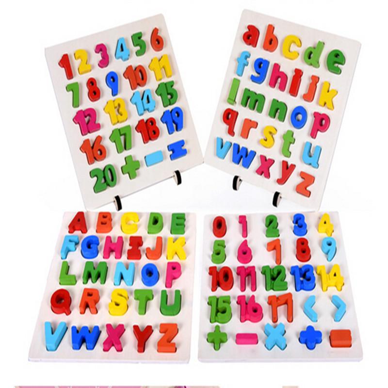 Portuguese Learning Toys : Brinquedo educacional de madeira do alfabeto inglês letras