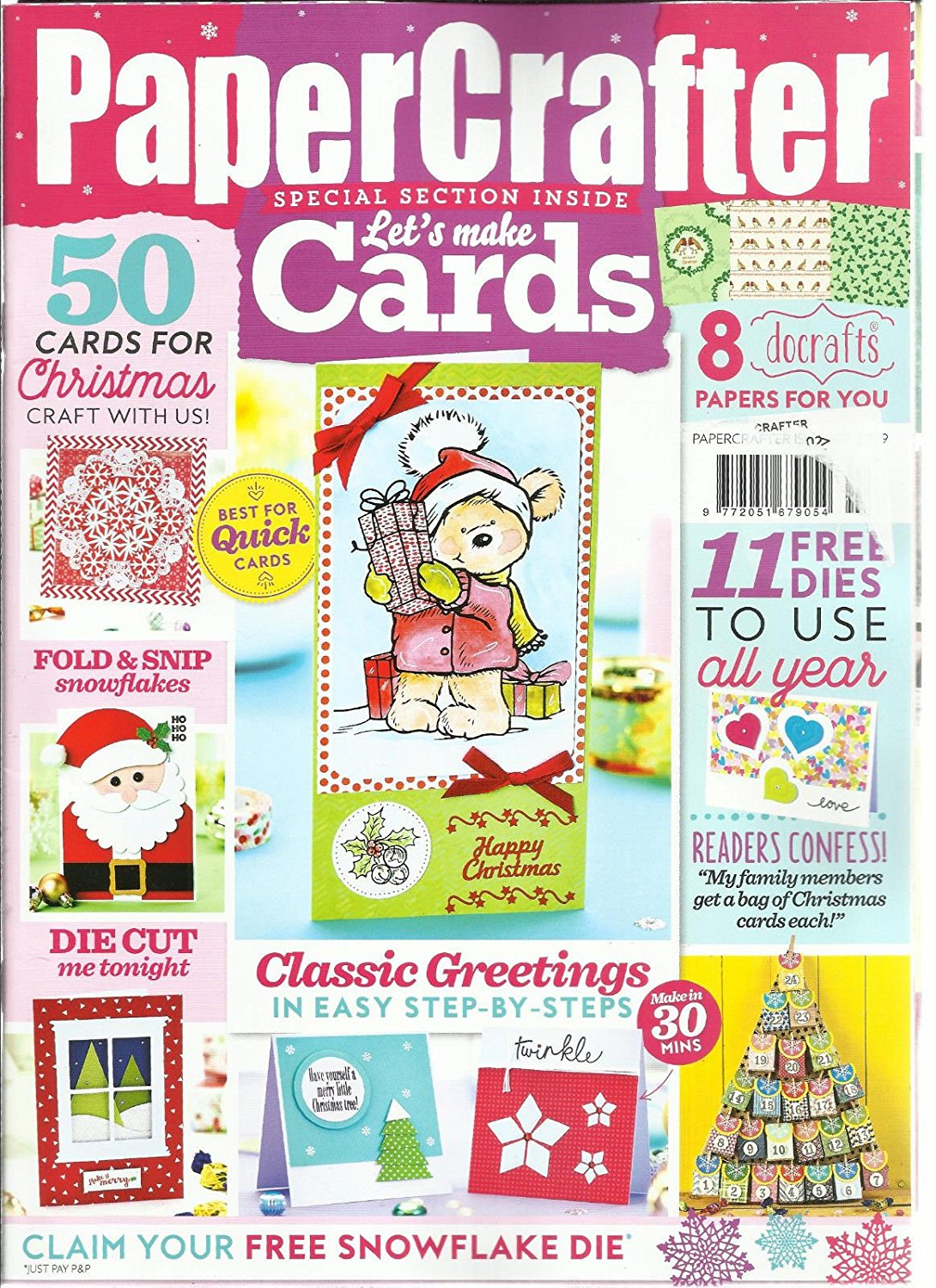 PAPER CRAFTER, LET'S MAKE CARDS, SPECIAL SECTION INSIDE ISSUE, 2016 ISSUE # 98