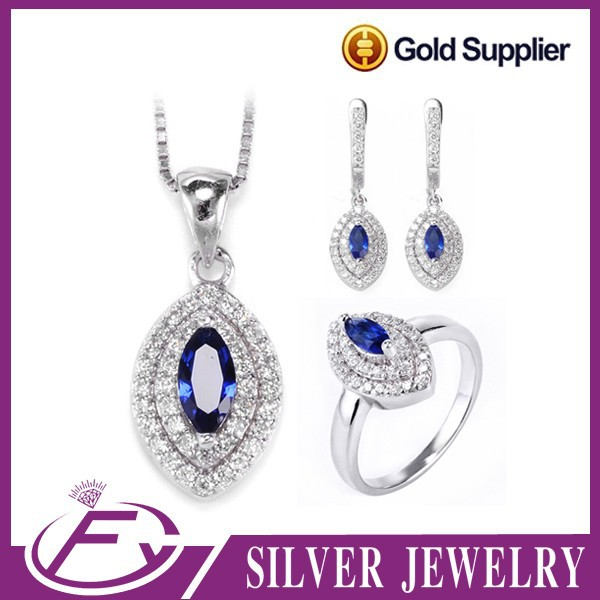 AAA bling bling stone rhodium plated sterling silver sun king jewelry