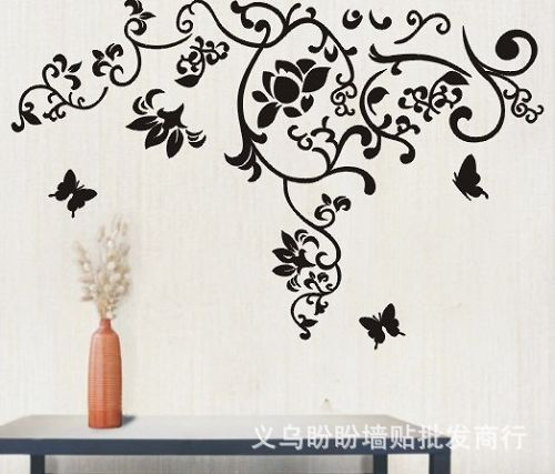 JM7023 Wall Sticker Bedroom Room Vinyl Decal Art DIY Home Decor Removable The Real Sticker Manufacture Simple pattern Butterfly