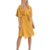 2019 Womens Elegant Short Sleeve Midi Linen Wrap Dress