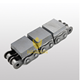 DIN standard pitch 19.05 steel conveyor 12B-G2 rubber roller chain with vulcanized elastomer