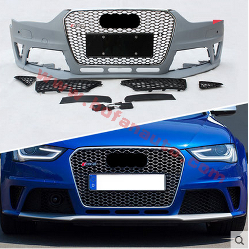 A4 Front Bumper with A4 RS4 Car Grills For Audi A4 B9 2013-2014