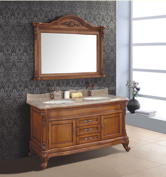 American style double sink bathroom cabinet on sale