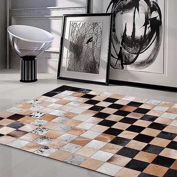 Patchwork Cow Skin Rug