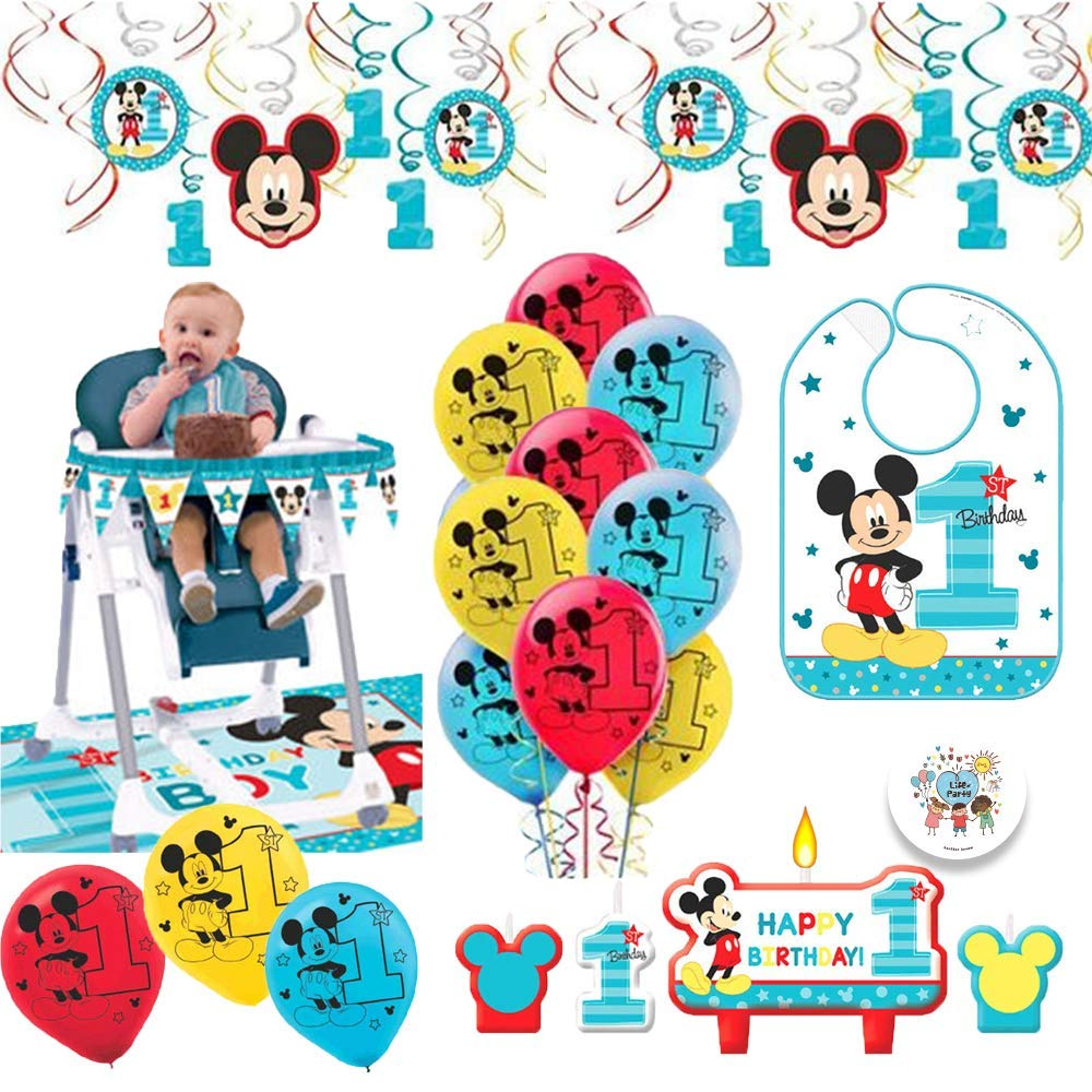 Get Quotations Mickey Mouse First Birthday Fun To Be One 1st Party Supplies Decoration Pack Includes