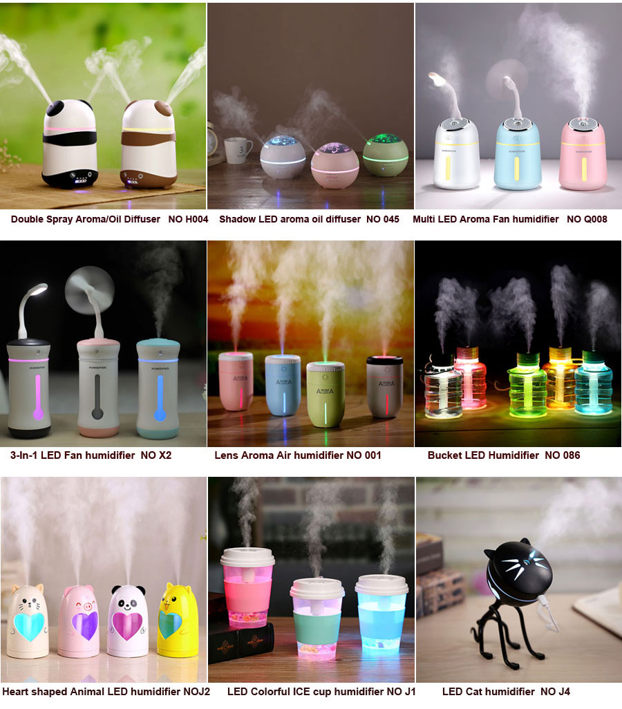 Multi LED Fan air humidifier 2018 funny innovative personalized electronics gifts