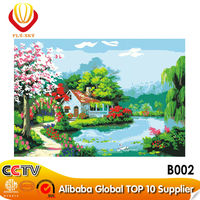 DIY digital decoration still life oil painting by numbers kits for gift(50*70cm)