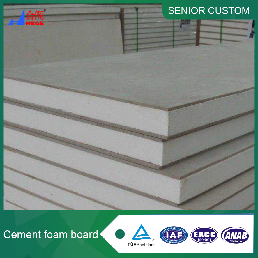 Energy Saving foam cement board/ cost saving building wall materials/ fireproof concrete block panel