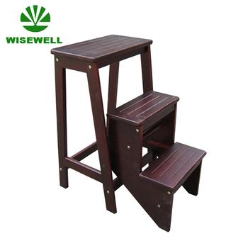 W C 1222 3 Step Folding Wood Ladder