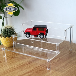 JINBAO Custom Wholesale 3 tier slatwall shelves plexiglass wall display holder stand clear acrylic display shelf