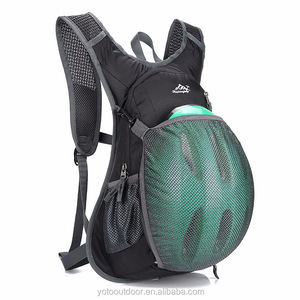 2018 New Trending Nylon Bicycle Cycling Backpack 15''with Hydration System and Helmet Pocket