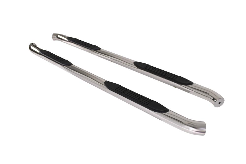"Chrome Side Step Nerf Bar Running Boards Pair Fit 07-16 Chevy Silverado/GMC Sierra 1500/2500/3500 Crew Cab 3"" Round S/S"