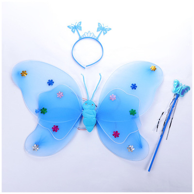 Single double butterfly wings three-piece angel wings show performance props wholesale PGAC2986