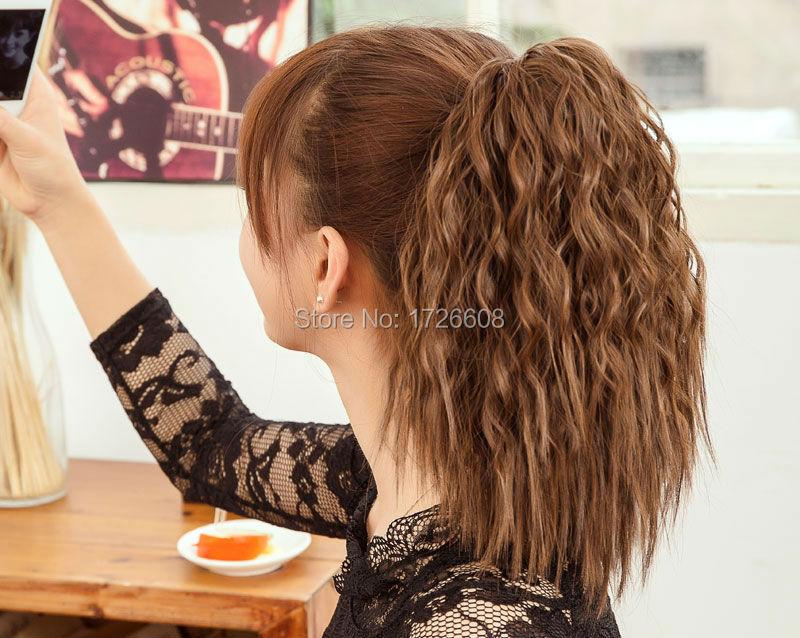 2018 Style Kinky Curly Black Women Drawstring Hair
