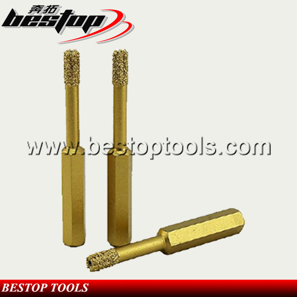 "Bestop Hot Sale D6mm-14mm Vacuum Brazed Diamond Mini Core Bits 1/3"" Hex. Shank"