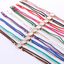 2901 Hot 11 colors fancy watch bands ladies pearl Dial bracelet watch for women