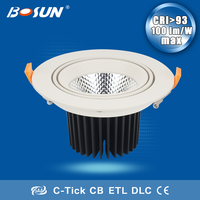 Led driver lights recessed dimmable 25w 30w cob led slim down light fixtures