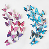 12PCS a Set Home Room Decoration Magnet Adhesive Art 3D PVC Butterfly Wall Decor Sticker Decals