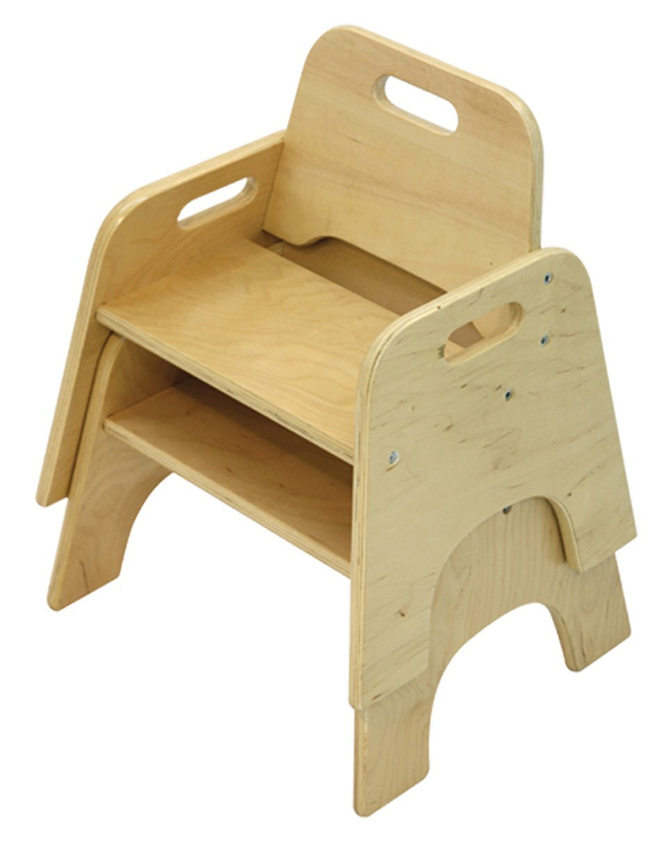 """A+ Childsupply Stackable Toddler Chair 10"""" - 2 Chairs"""