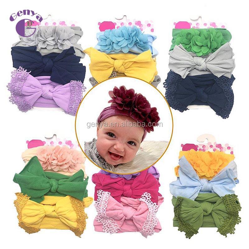 Paquetes Para Bebes Recien Nacidos.Genya Paquete 3pcs Bebe Nylon Diademas De Bebe Recien Nacido
