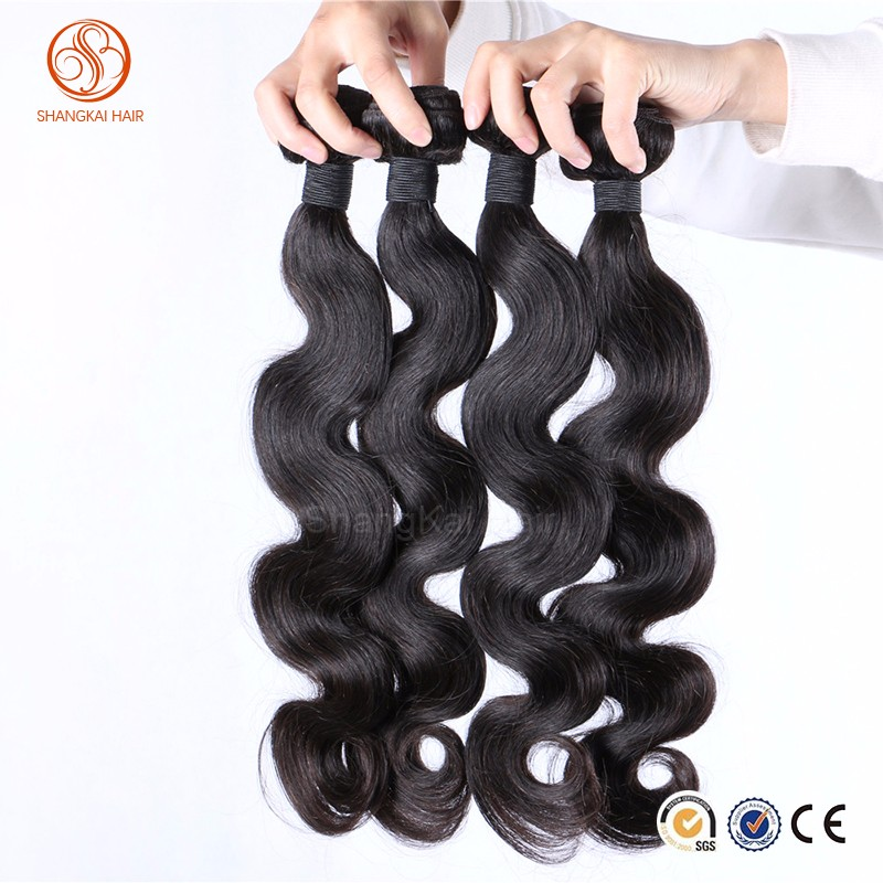 3pcs Mix 10-30inches Indian Virgin Human Weave Hair Weft Extensions Body Wave Natural Color Unprocessed Bundles Wavy Hair