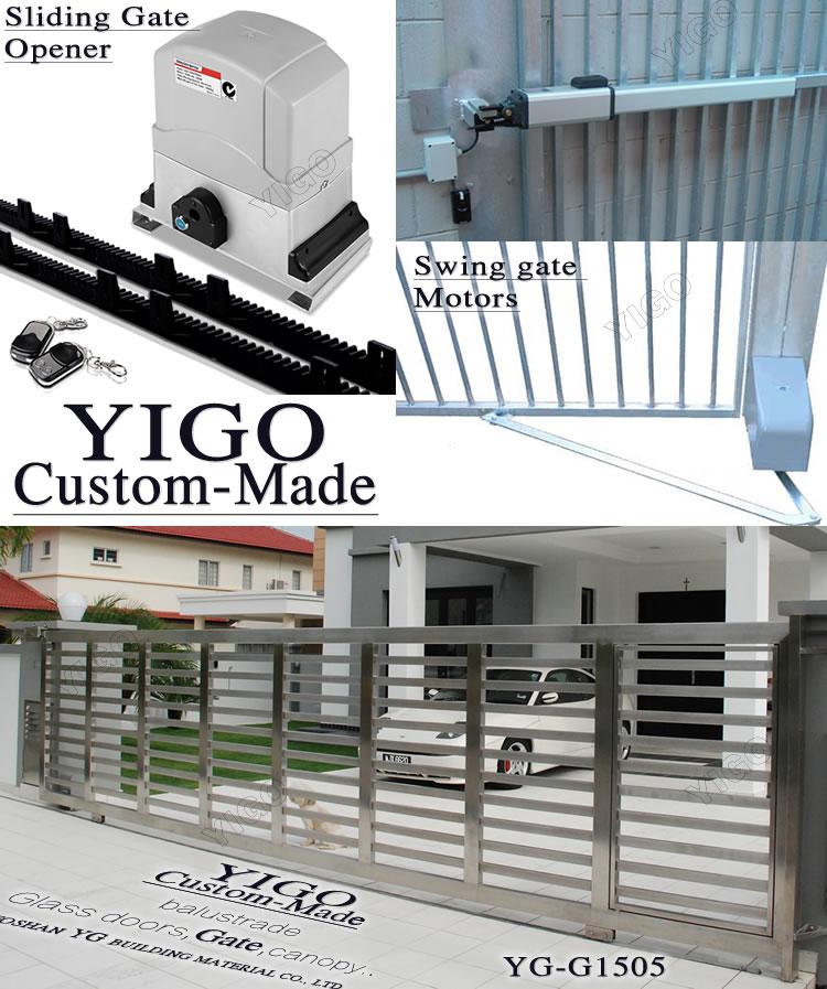 House Main Gate Designs Steel Gate Design Sliding Gate: Modern Stainless Steel Main Gate Design