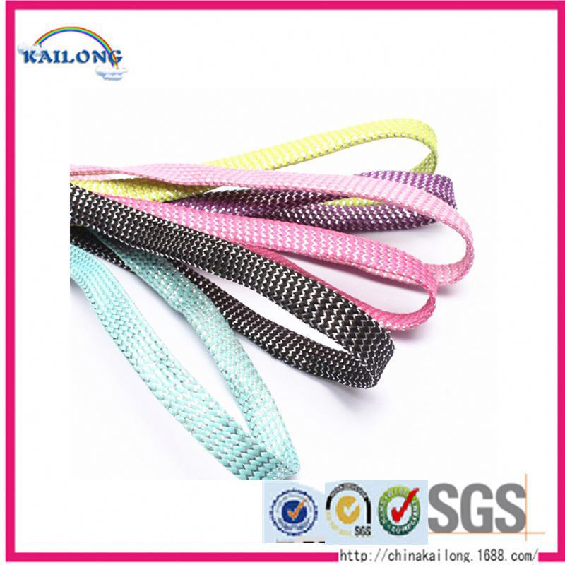 Hot Selling Polishing Cotton Braid Rubber Shoe Lace