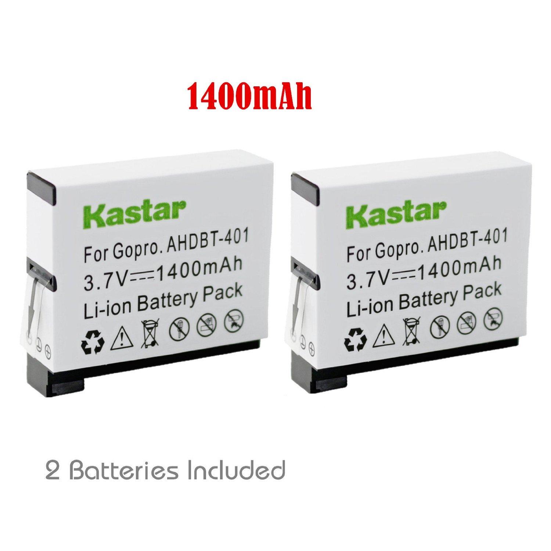Kastar Battery (2-Pack) for GoPro HERO4 and GoPro AHDBT-401, AHBBP-401 Sport Cameras
