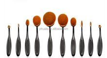 2017 EVAL hot sell 10pcs toothbrush style make up brushes set with black handle
