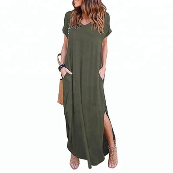 In stock fashion clothes casual wear women dress summer lady dress