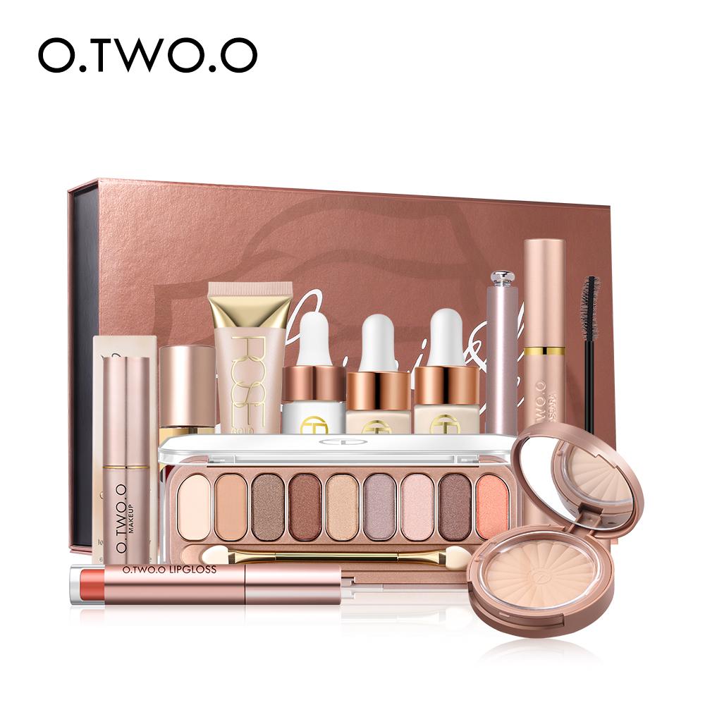 O.TWO.O CosmeticsLong-lasting Waterproof Pressed Powder Mascara Eyeshadow Palette Makeup Gift Sets