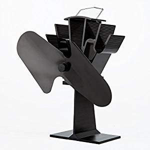 Fireplace Heat Powered Fan - Enjoy Heat From Your Wood Burning Stove and Drive Heat into Your Entire House Without Electricity (black)