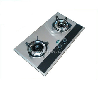 ACME new arrival stainless steel table Good 2 Burner electric panel Gas Cooker / gas Stove Oven