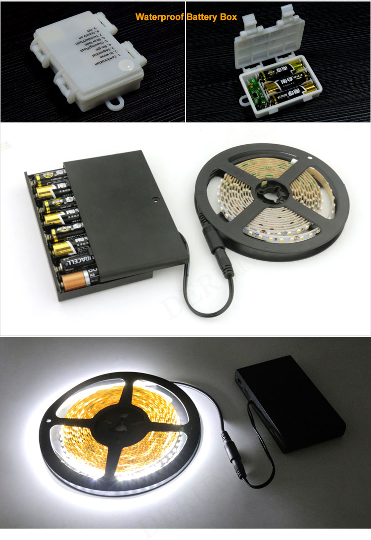 4.5V 9V Rechargeable Small Battery Operated Led Strip Lights