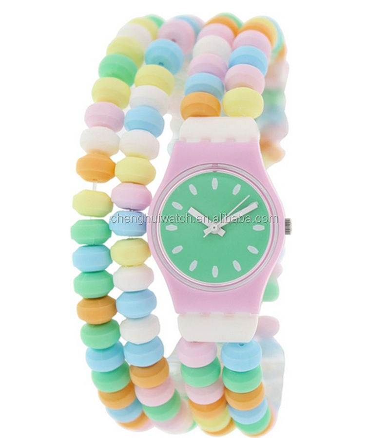 Candy Color Distinctive Silicone Strap Analog Sporting Quartz Wrist Watch Gift
