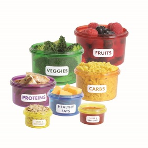 Food Portions box Perfect Portions food Storage box Portion Control plastic food box