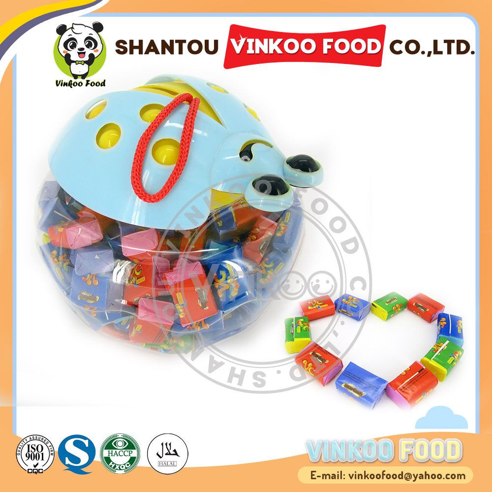 paper packing 3g vitamin c bubble chewing gum with tattoo