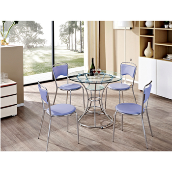 07cb597ffca 4 Seater Round Glass Top Dining Table With Chairs - Buy Round Glass ...