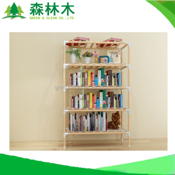 gac65 easy folding wooden diy bookshelf bookcase for sale