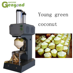 Young Coconut coconut dehusker machine mechanism decorticator barking peeler peeling