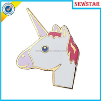 Wholesale gold enamel unicorn design lapel pin for sale