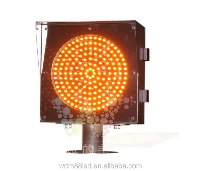 Super bright 8 inch Stainless steel fog yellow light Led Traffic Signal Light